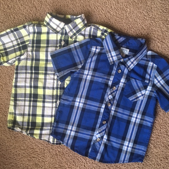 a0c95bd26 Gymboree Shirts & Tops | Short Sleeve Button Collar Dress Shirts 4t ...
